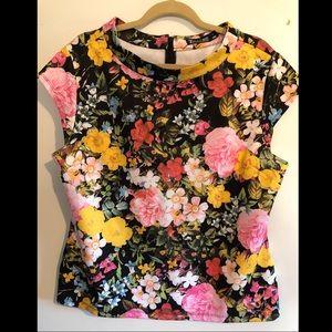 New York & Company Floral Print Dressy Blouse